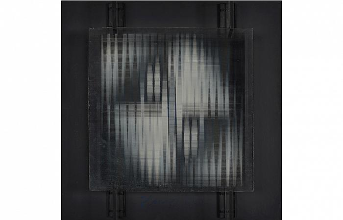 GLASS STRUCTURE, panel, grooved glass, 1968