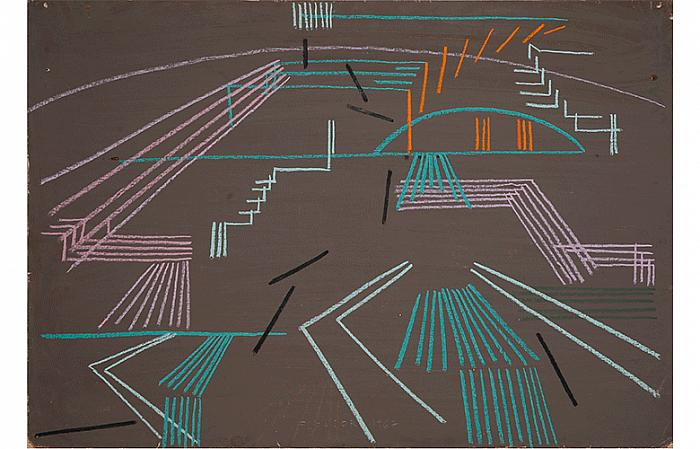 URBAN ARHITECTURE, 1968 pastel