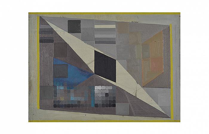 THE PRESENCE OF THE RHOMBUS 1967, oil on canvas, 70x105 cm