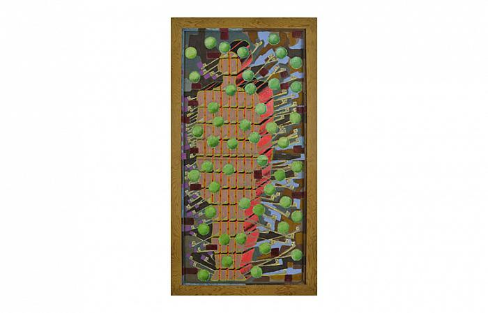 The Activist, 1970/1972, oil on wood door, 190 x 101 cm