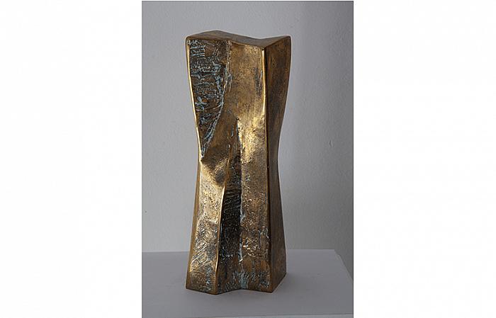 ÎMPACHETARE III, 2005, bronze 31x10x11cm