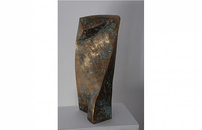 TORS RĂSUCIT II, 2005, bronze, 39x15x15cm