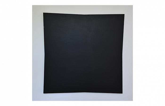 Roman Cotosman, Expension in Black, 121 x 121 x 3 cm, acrylic in woodpanel, 1993