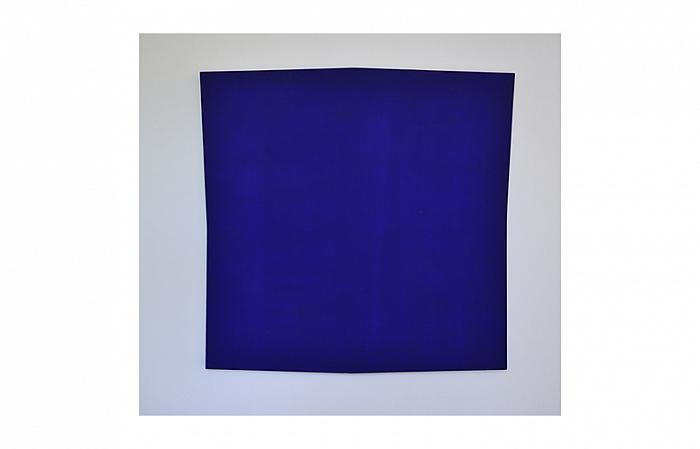 Roman Cotosman, Expension in Blue, 121 x 121 x 3 cm, acrylic in woodpanel, 1993