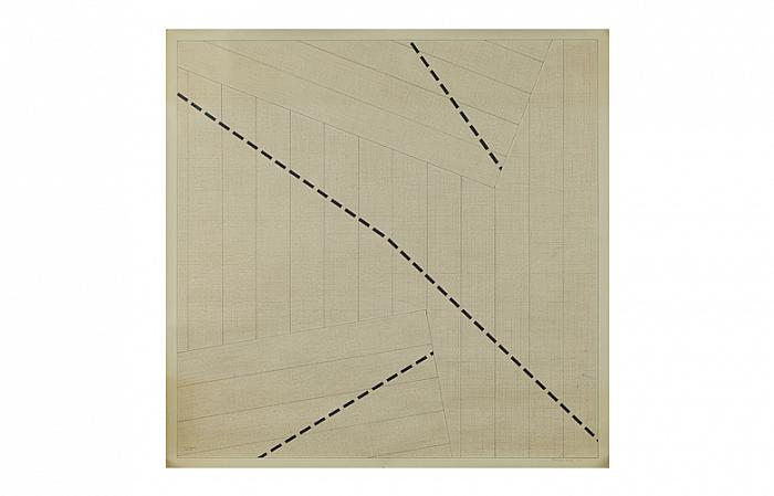 Roman COTOSMAN, Tensional Games nr.6, 1975-76, 91,5 x 91,5cm pencil, ink, linocut on paper