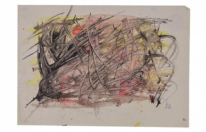Roman Cotosman, Untitled-Action, 21x 29,7cm, ink on paper, RC 8, 1963