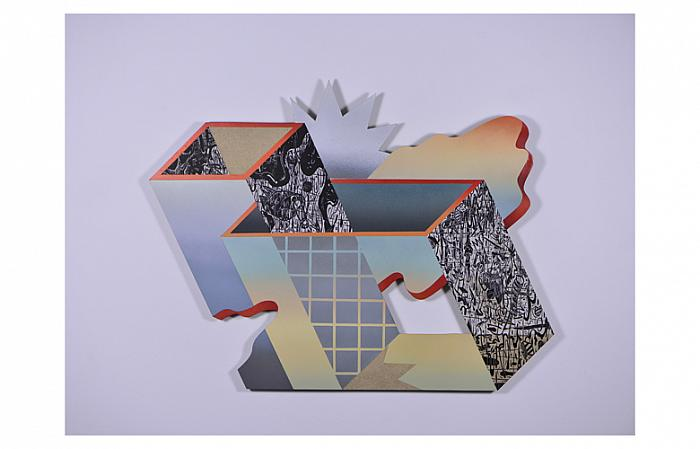 MIRCEA POPESCU Untitled (Glass drawers), 2018 acrylic