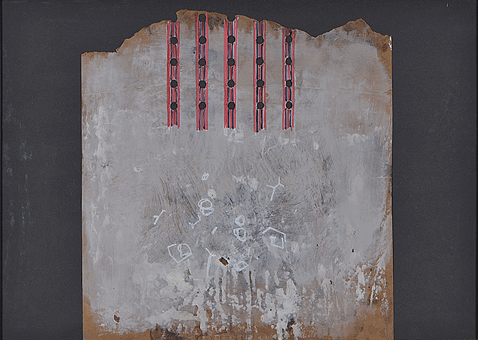 VARIABLE SPACES 3, drawing, acrylic and collage on cardboard 50x70cm, 2012