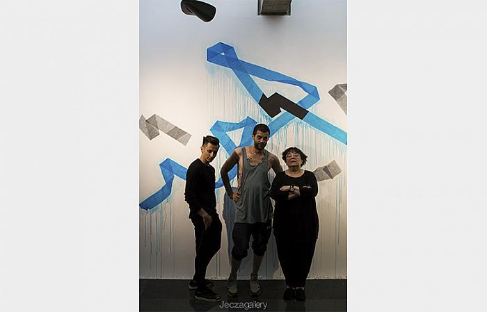 Alex Mirutziu,  Dan Beudean, Liviana Dan / Drawing by Dan Beudean