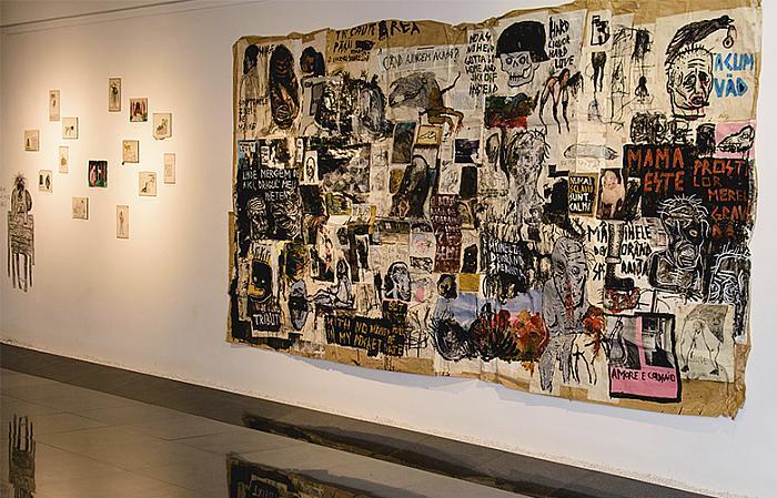 Sasha Robert Bandi, In căutarea păcii - o lucrare dedicată soarelui, tehnică mixtă pe hârtie, 2016