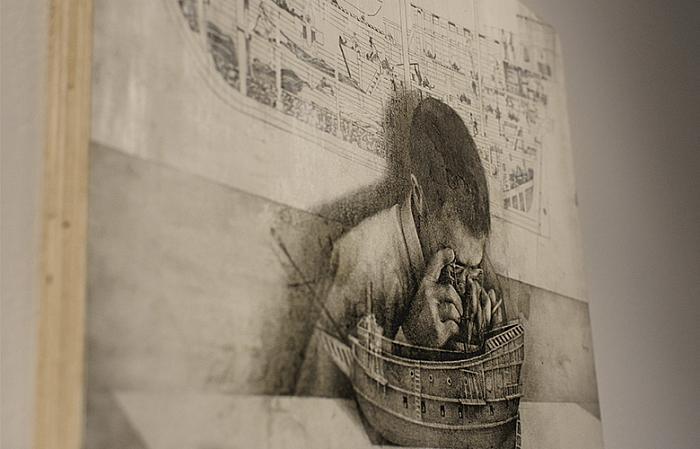 Dan Beudean, Untitled, creion pe hârtie, 2017, colecție privată