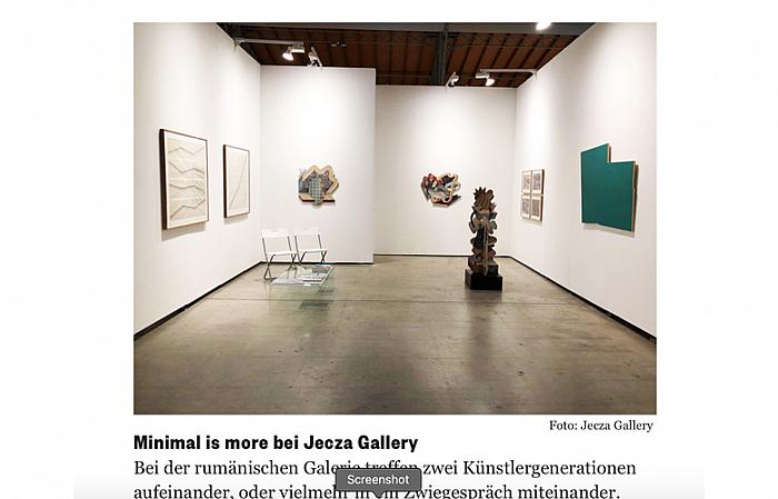 Minimal is more bei Jecza Gallery