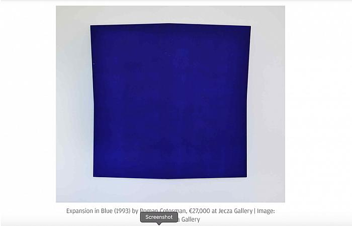 Expansion in Blue (1993) by Roman Cotosman