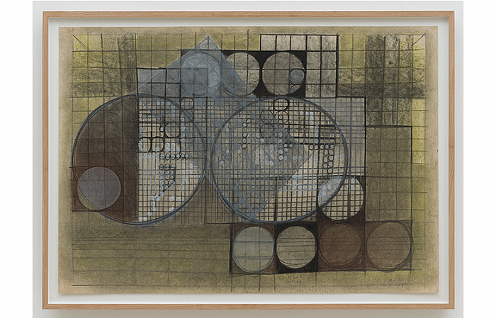 Constantin Flondor - BACKLIT III, 1967 Charcoal chalk on paper 70 x 100cm