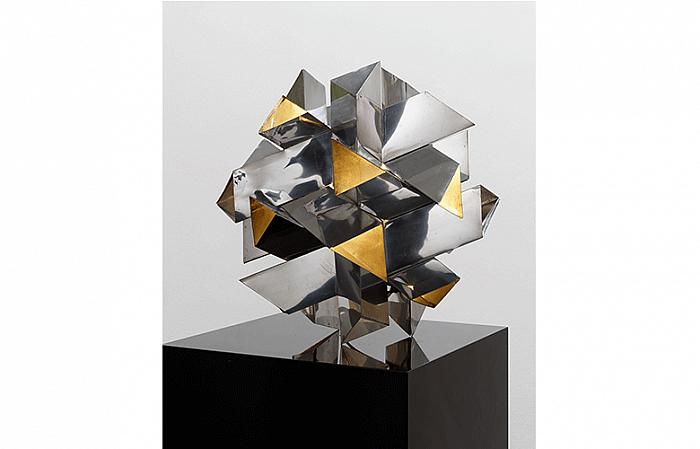 Constantin Flondor - TRIGONA NODES, 1974 aluminum light bulb 45 x 45 x 45cm