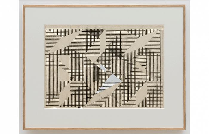 Constantin Flondor - ENERGY FIELD I, 1967 Coal tempera on paper 70 x 100cm